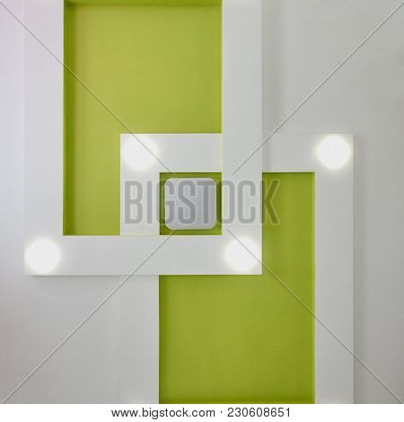 Set Of Different Building Equipment On White Wooden Floor