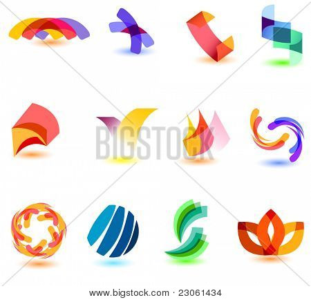 Modern colorful symbols for your design (part 8). Please visit my gallery to see similar.