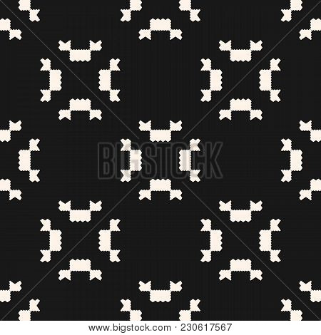 Vector Geometric Seamless Pattern. Ornamental Tribal Texture With Jagged Shapes, Angular Figures. Ab