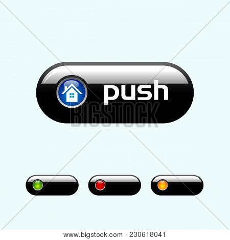 Buttons For Web Design. Vector. Ai Easy To Edit