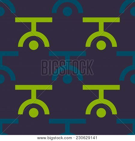 Upside Down Seamless Pattern. Strict Line Geometric Pattern For Your Design.