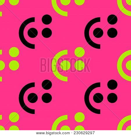 Button Right Check Seamless Pattern. Strict Line Geometric Pattern For Your Design.