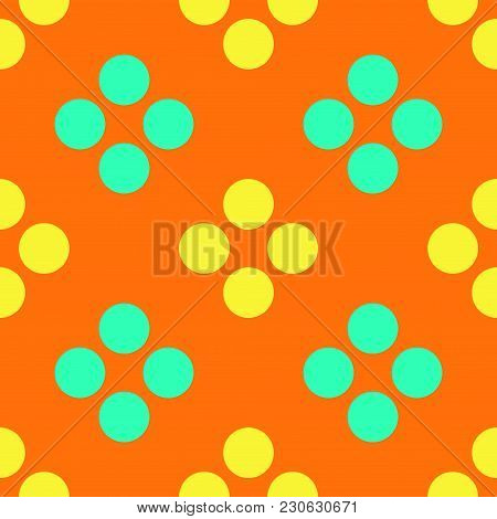 Berry Dots Seamless Pattern. Strict Line Geometric Pattern For Your Design.