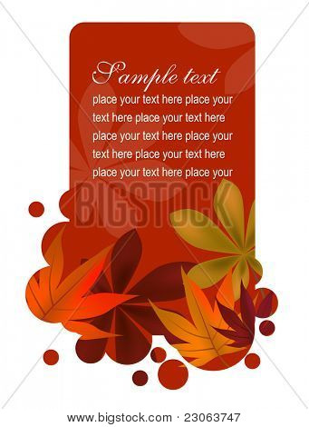Beautiful autumn frame with leaves