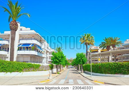 City Views Of A Small Town In The Suburb Of Barcelona - Sitges.