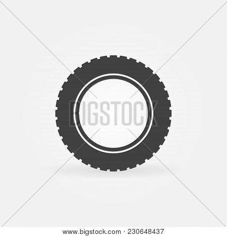 Car Tire Icon. Vector Tyre Symbol Or Design Element