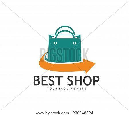 Best Fast Delivery Online Shop Vector Logo Design