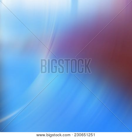 Concentric White Lines On A Pastel Blue Background. Abstract Background. Design Element.