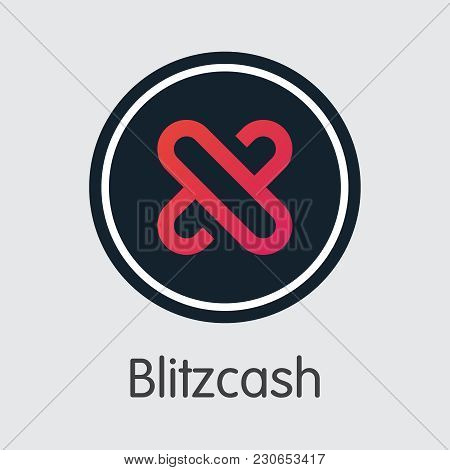 Vector Blitzcash Digital Currency Coin Symbol. Mining, Coin, Exchange. Vector Colored Logo Of Blitz.
