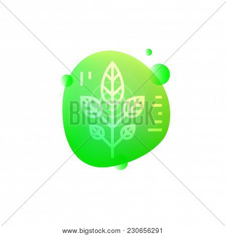 Vector Illustration Of Hi-tech Plants Data Icon Isolated On White Background.