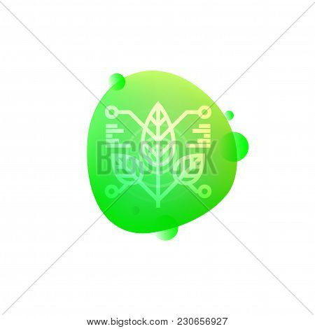 Vector Illustration Of Hi-tech Robotic Plant Sensor Icon Isolated On White Background.