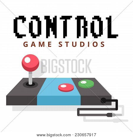 Control Game Studios Joystick Background Vector Image