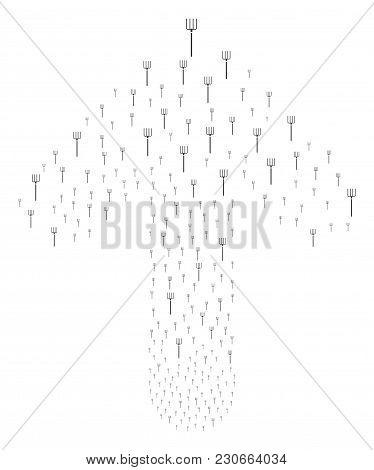 Pitchfork Illustration Organized In The Collection Of Forward Way Arrow. Forward Cursor Arrow Compos