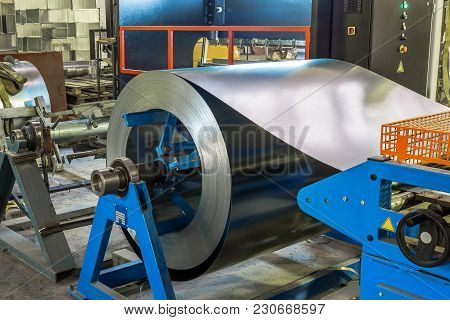 Metal Round Roll Of Galvanized Stainless Steel Sheet, Industrial Metalwork Machinery Manufacturing C
