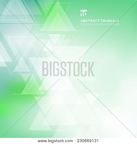 Abstract Blurred Background With Triangles Pattern Element Green And Blue Color For Cover Book, Prin