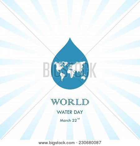 Water Drop With World Icon Vector Logo Design Template.world Water Day Icon.world Water Day Idea Cam