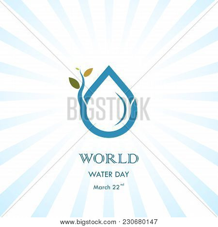 Water Drop With Small Tree Icon Vector Logo Design Template.world Water Day Icon.world Water Day Ide