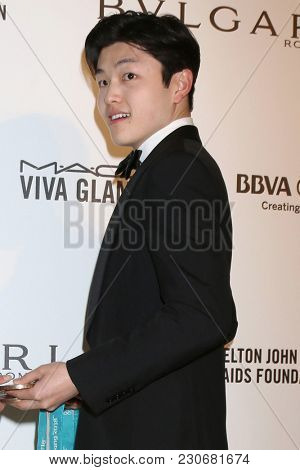 LOS ANGELES - MAR 4:  Alex Shibutani at the 2018 Elton John AIDS Foundation Oscar Viewing Party at the West Hollywood Park on March 4, 2018 in West Hollywood, CA