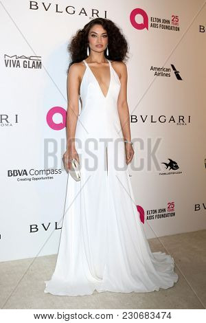 LOS ANGELES - MAR 4:  Shanina Shaik at the 2018 Elton John AIDS Foundation Oscar Viewing Party at the West Hollywood Park on March 4, 2018 in West Hollywood, CA