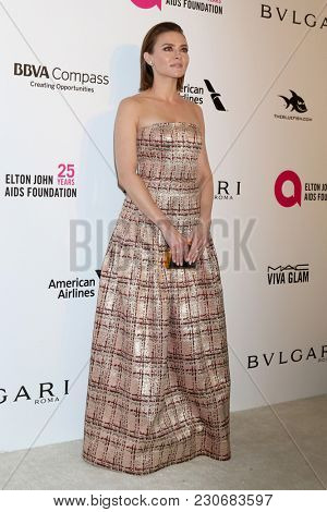 LOS ANGELES - MAR 4:  Trieste Kelly Dunn at the 2018 Elton John AIDS Foundation Oscar Viewing Party at the West Hollywood Park on March 4, 2018 in West Hollywood, CA