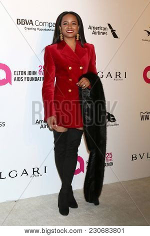 LOS ANGELES - MAR 4:  Rhyon Brown at the 2018 Elton John AIDS Foundation Oscar Viewing Party at the West Hollywood Park on March 4, 2018 in West Hollywood, CA
