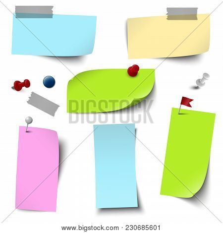 Empty Colored Papers With Accessories