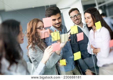 Creative Professional Business People Working On Business Project In Office
