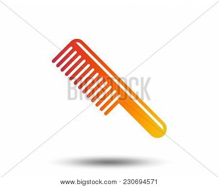Comb Hair Sign Icon. Barber Symbol. Blurred Gradient Design Element. Vivid Graphic Flat Icon. Vector