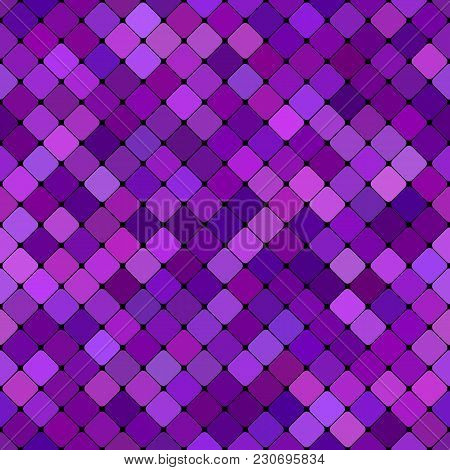 Purple Abstract Seamless Diagonal Square Pattern Background Design - Vector Graphic
