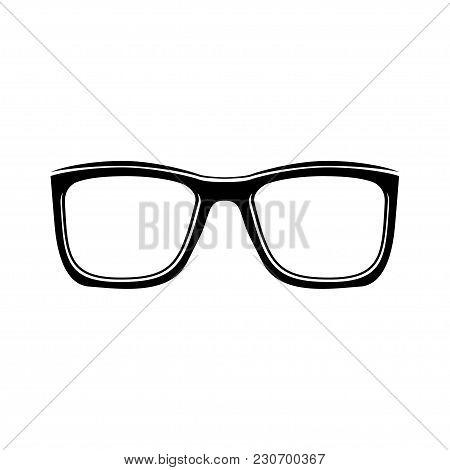 Eyeglasses, Accessory, Glasses. Vector Illustration Isolated On White Background