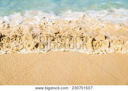 Sea wave in Tropical white sand beach