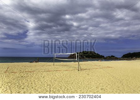 Beach Volley Court In Mount Maunganui, New Zealand