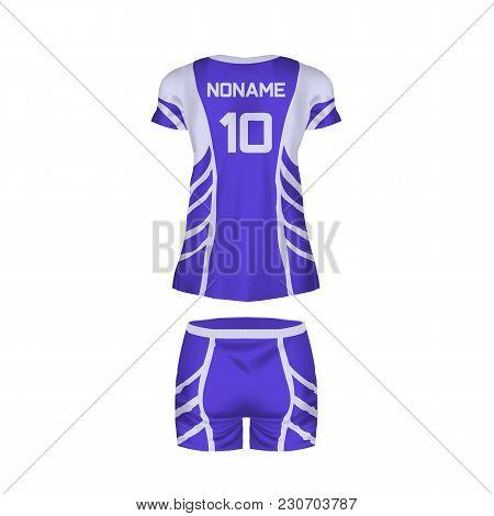 Realistic Mockup Women T-shirt - Tunic, Fashion Shorts. Women Sports Short Sleeve T-shirt, Tunic, Fo