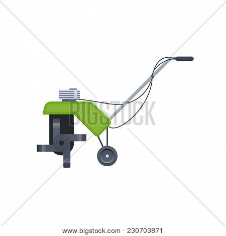 Agricultural Machinery, Agro-industrial Work. Motocultivator, Garden Tiller. Machine For Cleaning An