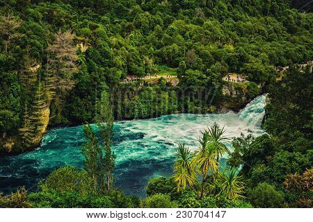 View Of Huka Falls In Taupo, New Zealand