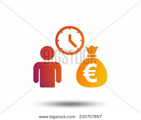 Bank Loans Sign Icon. Get Money Fast Symbol. Borrow Money. Blurred Gradient Design Element. Vivid Gr