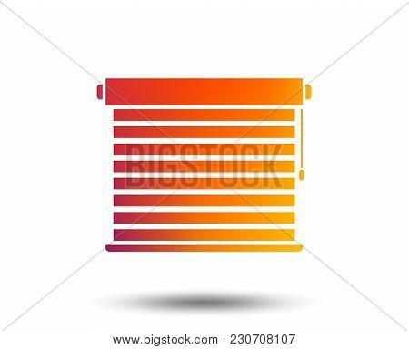 Louvers Sign Icon. Window Blinds Or Jalousie Symbol. Blurred Gradient Design Element. Vivid Graphic