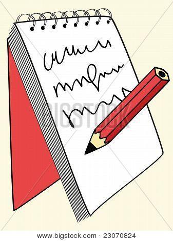 write in notebook