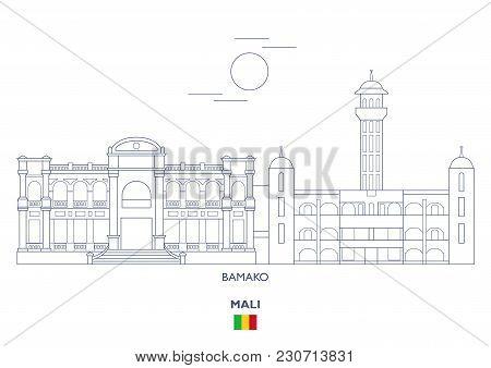 Bamako Linear City Skyline, Mali. Famous Places