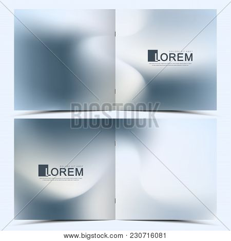 Modern Vector Template For Square Brochure, Leaflet, Flyer, Cover, Catalog, Magazine, Annual Report.