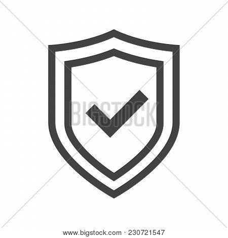 Vector Shield Icon, Logotype With Tick. Security Emblem Collection. Protection Logo. Сryptocurrency