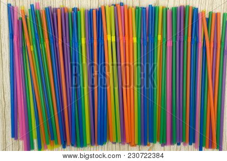 Colorful Of Straw Twist Vibrant Vivid Water