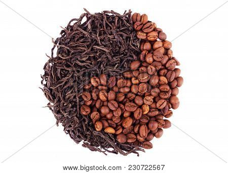 Coffee Vs. Tea Yin Yang Roast, Ingredient, Spoon, Tea, Black, Roasted,