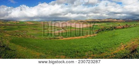 Landscape In The Plains Of Fez In Morocco