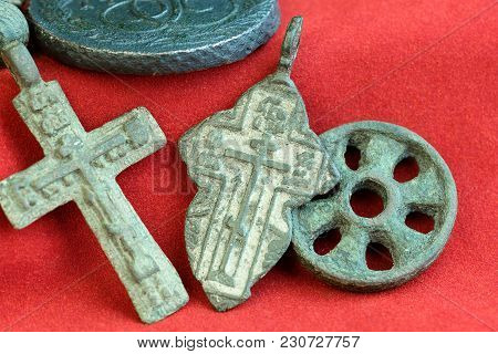 Religious Crosses Russian 18th Century Collectible Items Rare Antique