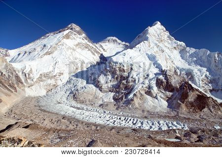 Beautiful View Of Mount Everest From Pumo Ri Base Camp - Way To Everest Base Camp, Khumbu Valley, Sa