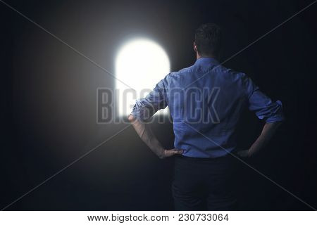 Businessman Sees The Light At The End Of The Tunnel