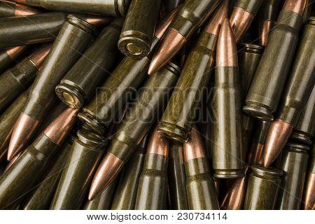 Cartridges 7.62 Mm For Kalashnikov Ak47 Assault Rifle