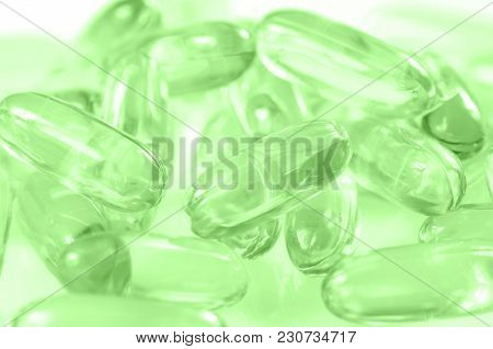 Soft Gelatin Capsule Use In Pharmaceutical Manufacturing For Contain Oily Drug And Nutritional Suppl
