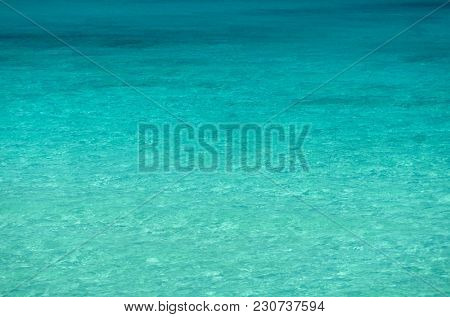 Clear sea water at day